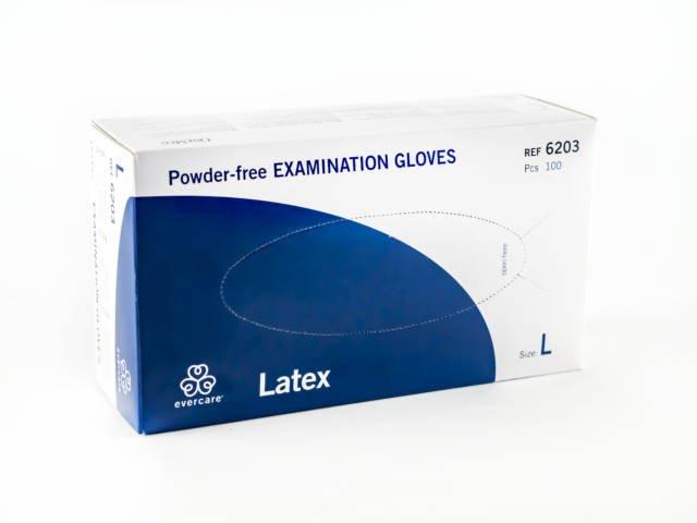 Rękawiczki lateksowe bezpudrowe 100 szt.