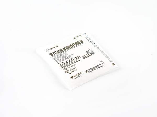 Kompres gazowy jałowy 7,5 cm x 7,5 cm 3 szt.