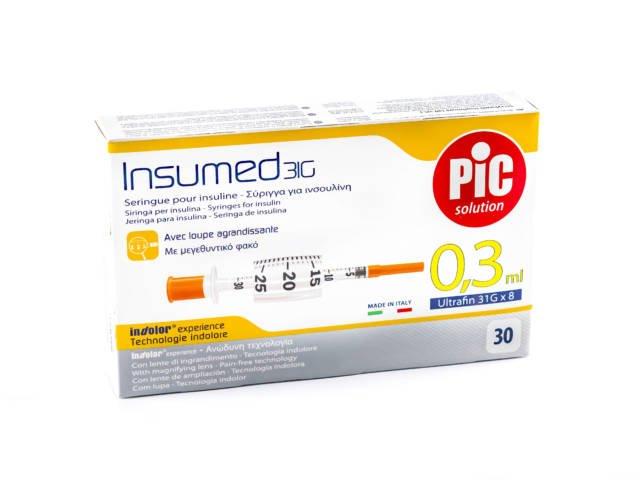 Strzykawki insulinowe INSUMED 0,3 ml G31x8mm (30szt.)