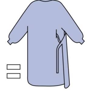 Fartuch operacyjny IMMUNITY standard z 2 ręcznikami