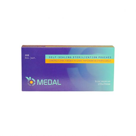 Torebki do sterylizacji 135 x 250 (200 szt.) Medal