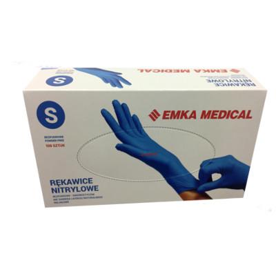 Rękawiczki nitrylowe bezpudrowe rozm.S (100 szt.)