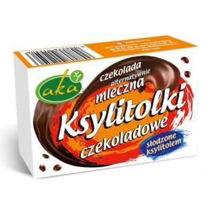 Drażetki czekoladowe mleczne Ksylitolki