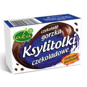 Drażetki czekoladowe gorzkie Ksylitolki