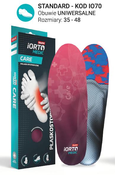 Wkładki ortopedyczne Mazbit CARE (STANDARD) IO70
